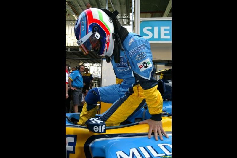 Jarno Trulli, Renault. Thursday practice, Monaco Grand Prix. Monte Carlo, May 29th 2003.