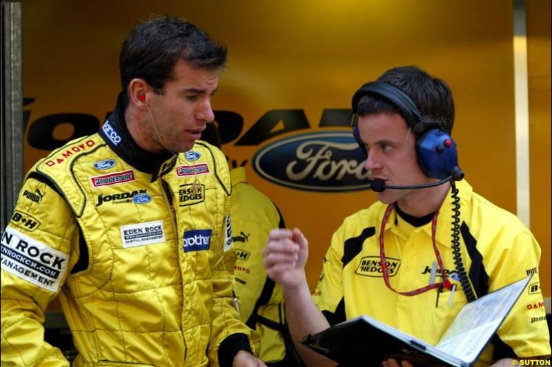 Ralph Firman, Jordan. Thursday practice, Monaco Grand Prix. Monte Carlo, May 29th 2003.