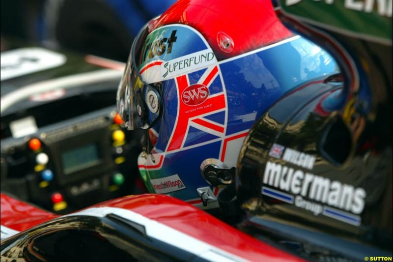 Justin Wilson, Minardi. Thursday practice, Monaco Grand Prix. Monte Carlo, May 29th 2003.
