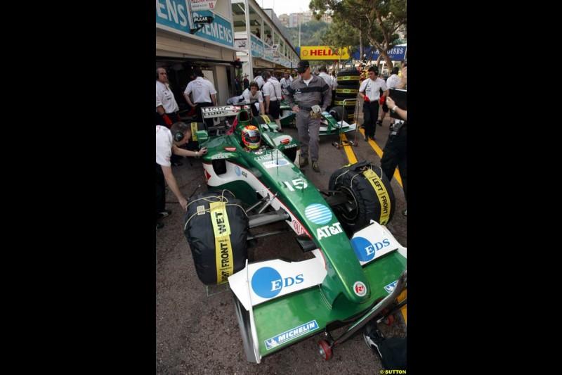 Jaguar. Thursday practice, Monaco Grand Prix. Monte Carlo, May 29th 2003.
