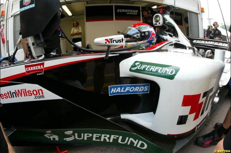 Minardi. Thursday practice, Monaco Grand Prix. Monte Carlo, May 29th 2003.