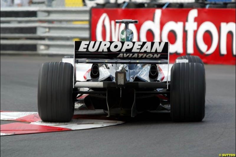 Thursday practice, Monaco Grand Prix. Monte Carlo, May 29th 2003.