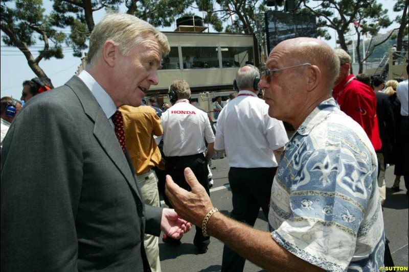 FIA president Max Mosley. Monaco Grand Prix, Sunday, June 1st 2003.