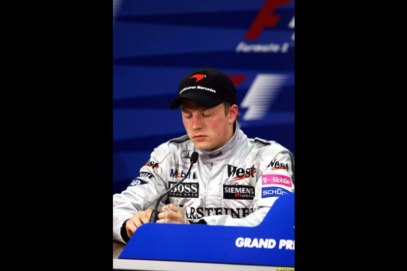 Kimi Raikkonen. Monaco Grand Prix, Sunday, June 1st 2003.