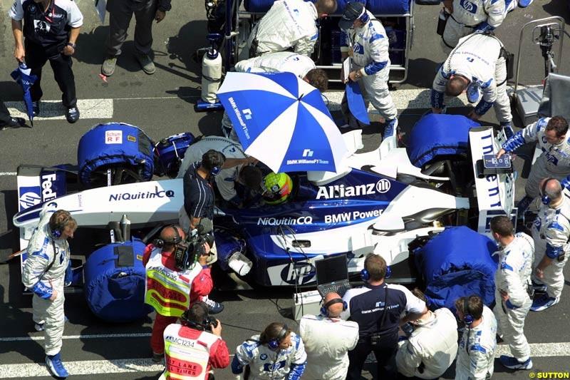 Williams prepare. Monaco Grand Prix, Sunday, June 1st 2003.