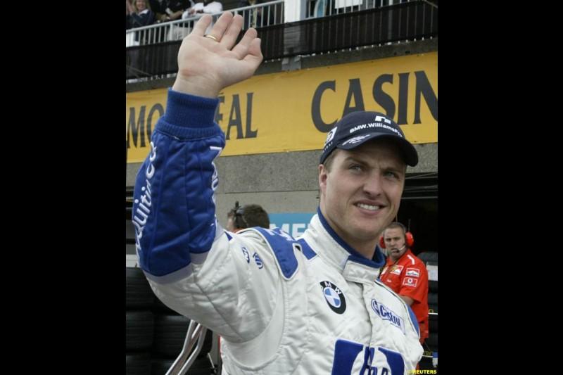 Ralf Schumacher, Williams. Canadian Grand Prix, Montreal, Saturday, June 14th 2003.