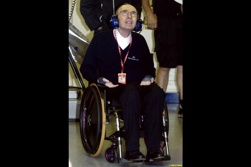 Frank Williams, Williams Team Principal. Canadian Grand Prix, Montreal, Saturday, June 14th 2003.