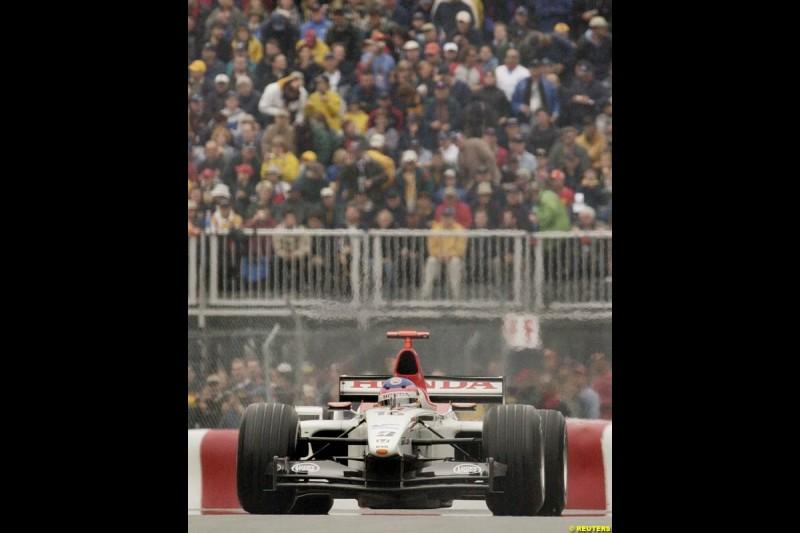 Jacques Villeneue, BAR. Canadian Grand Prix, Montreal, Saturday, June 14th 2003.