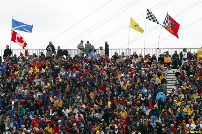 The Fans. Canadian Grand Prix, Montreal, Saturday, June 14th 2003.