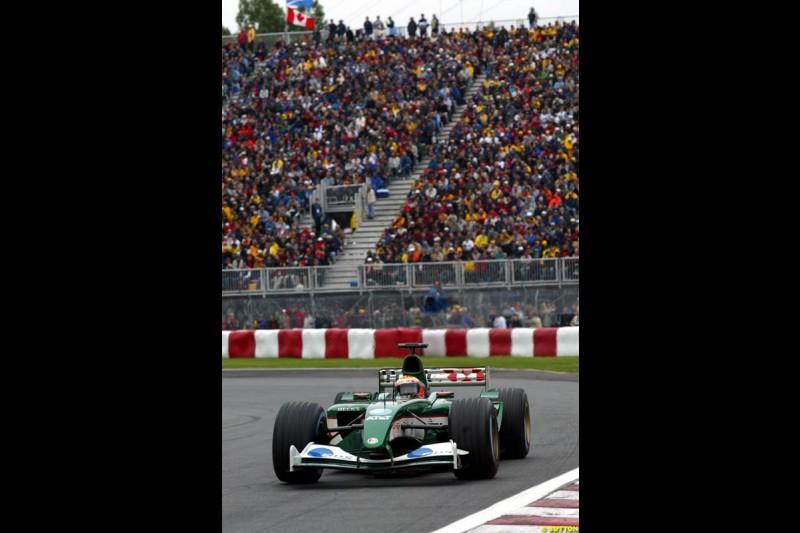 Antonio Pizzonia, Jaguar. Canadian Grand Prix, Montreal, Saturday, June 14th 2003.