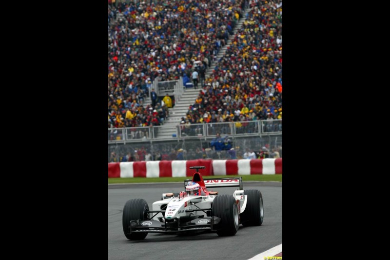 Jenson Button, BAR. Canadian Grand Prix, Montreal, Saturday, June 14th 2003.