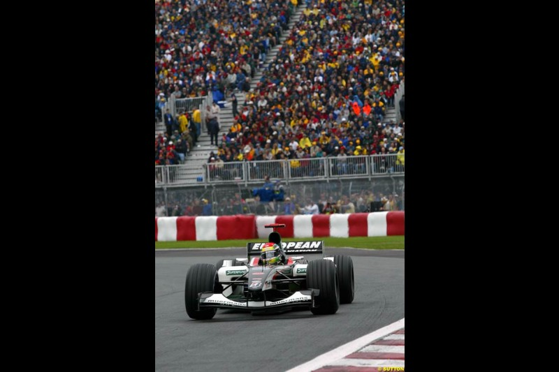 Justin Wilson, Minardi. Canadian Grand Prix, Montreal, Saturday, June 14th 2003.