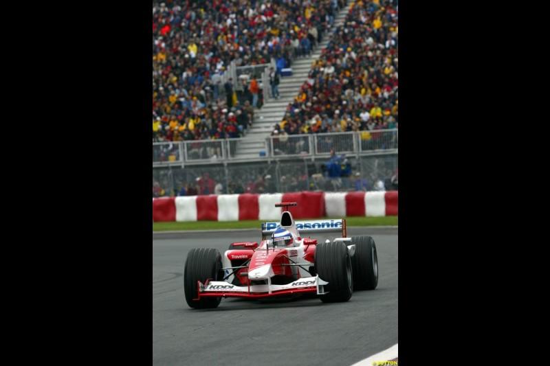 Olivier Panis, Toyota. Canadian Grand Prix, Montreal, Saturday, June 14th 2003.