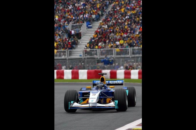 Heinz Harald Frentzen, Sauber. Canadian Grand Prix, Montreal, Saturday, June 14th 2003.