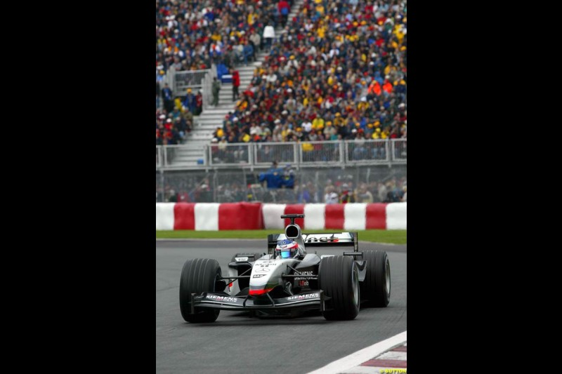 Kimi Raikkonen, McLaren. Canadian Grand Prix, Montreal, Saturday, June 14th 2003.