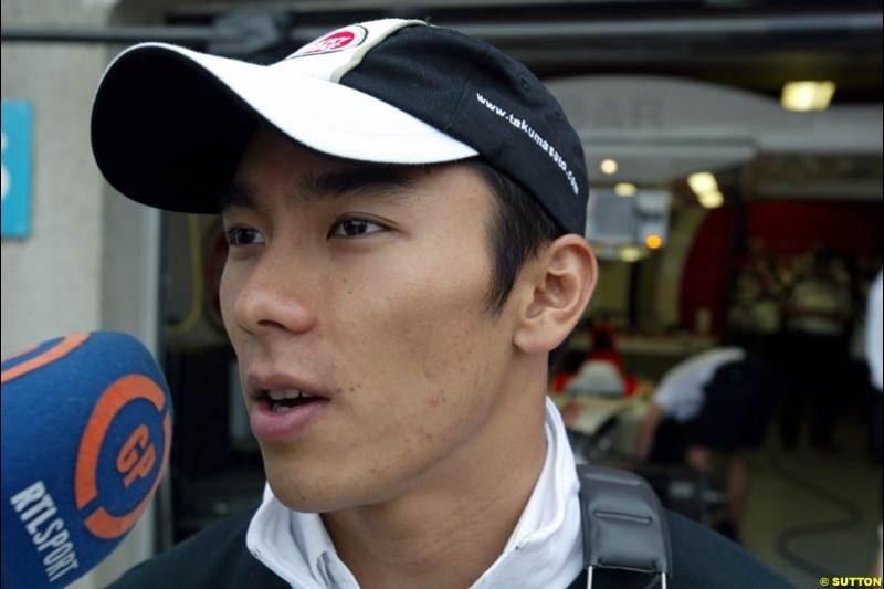Takuma Sato, BAR. Canadian Grand Prix, Montreal, Saturday, June 14th 2003.