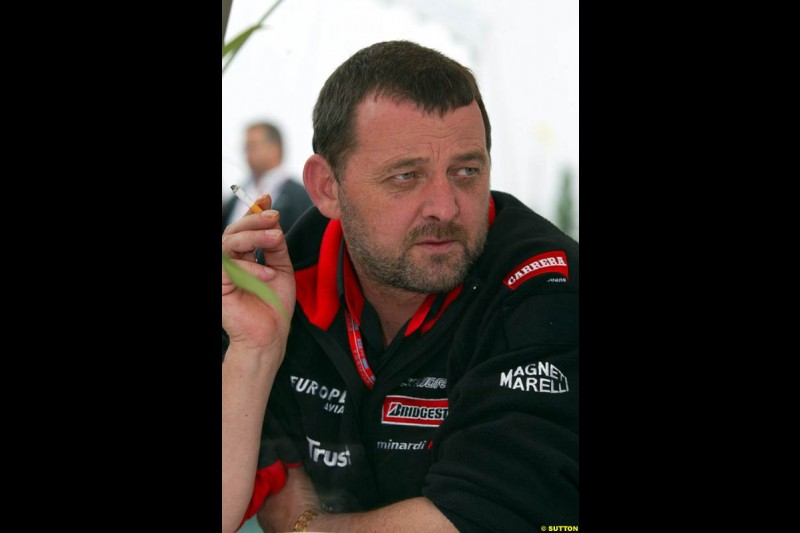 Paul Stoddard, Minardi Team Principal. Canadian Grand Prix, Montreal, Saturday, June 14th 2003.