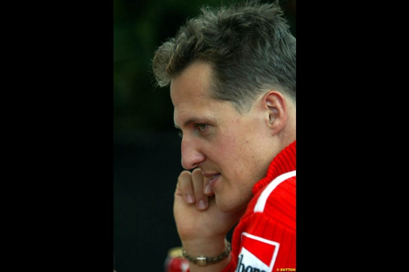 Michael Schumacher, Ferrari. Canadian Grand Prix, Montreal, Saturday, June 14th 2003.