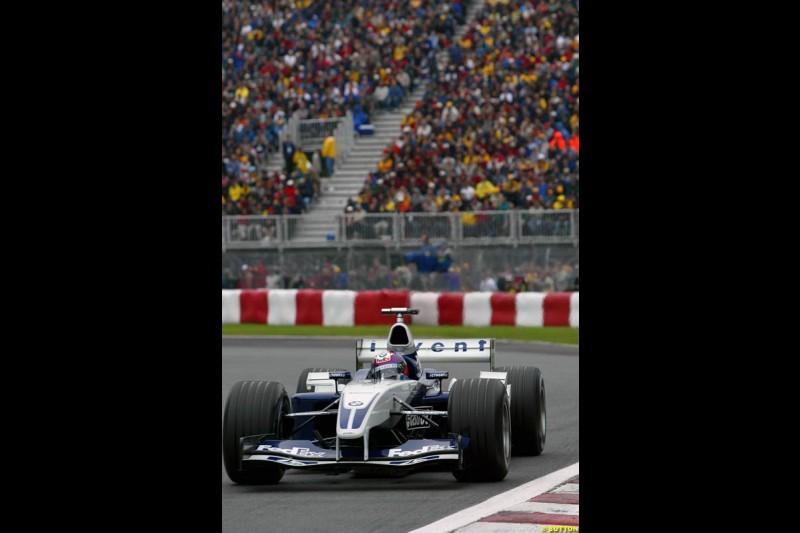 Juan Pablo Montoya, Williams, during qualifying. Canadian Grand Prix, Montreal, Saturday, June 14th 2003.
