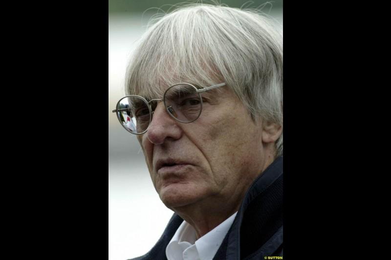 Bernie Ecclestone, F1 Supremo, during qualifying. Canadian Grand Prix, Montreal, Saturday, June 14th 2003.
