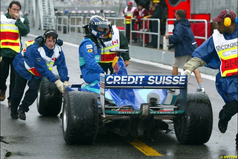Heinz Harald Frentzen, during Saturday Free Practice. Canadian Grand Prix, Montreal, Saturday, June 14th 2003.