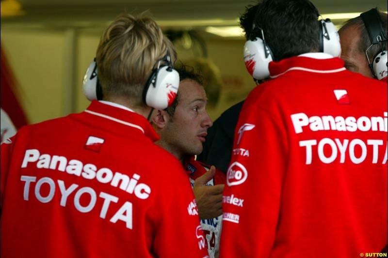 Toyota, during Saturday Free Practice. Canadian Grand Prix, Montreal, Saturday, June 14th 2003.