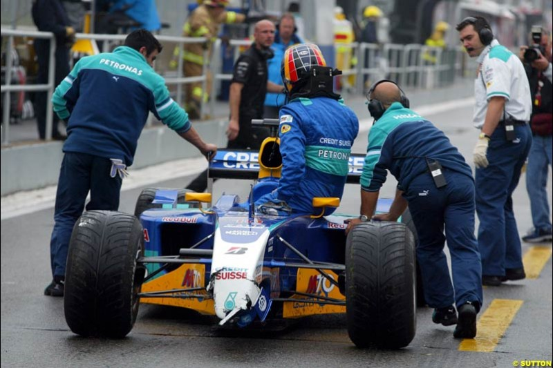 Heinz Harald Frentzen, Sauber, during Saturday Free Practice. Canadian Grand Prix, Montreal, Saturday, June 14th 2003.