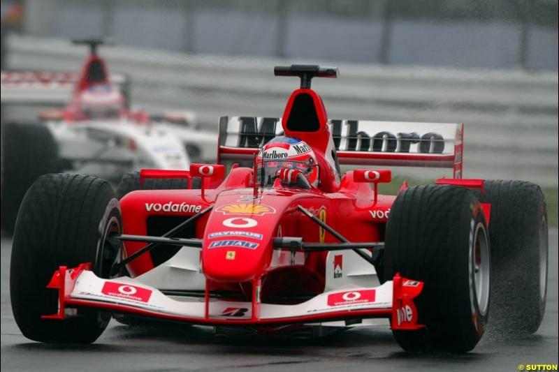 Rubens Barrichello, Ferrari, during Saturday Free Practice. Canadian Grand Prix, Montreal, Saturday, June 14th 2003.