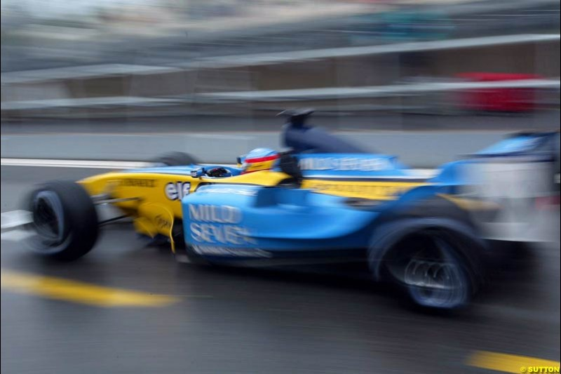 Fernando Alonso, Renault, during Saturday Free Practice. Canadian Grand Prix, Montreal, Saturday, June 14th 2003.