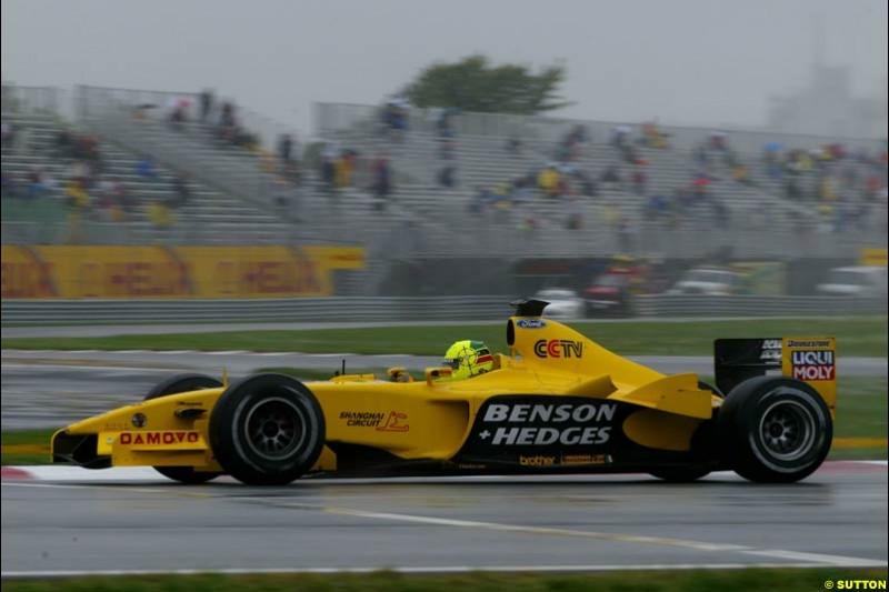 Ralph Firman Jnr, Jordan, during Saturday Free Practice. Canadian Grand Prix, Montreal, Saturday, June 14th 2003.