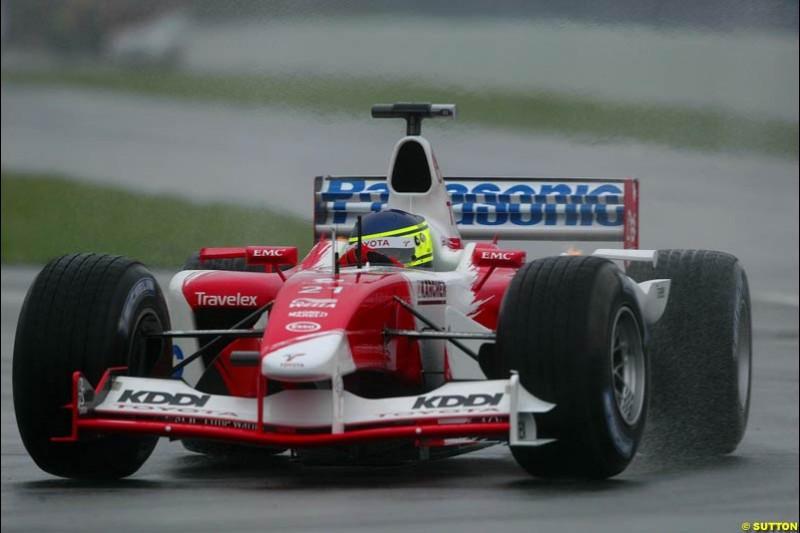 Cristiano da Matta, Toyota, during Saturday Free Practice. Canadian Grand Prix, Montreal, Saturday, June 14th 2003.