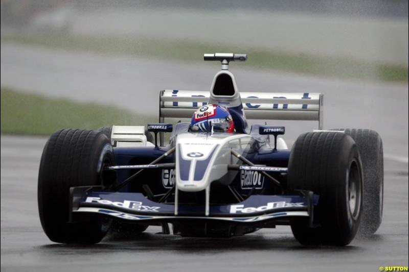Juan Pablo Montoya, Williams, during Saturday Free Practice. Canadian Grand Prix, Montreal, Saturday, June 14th 2003.