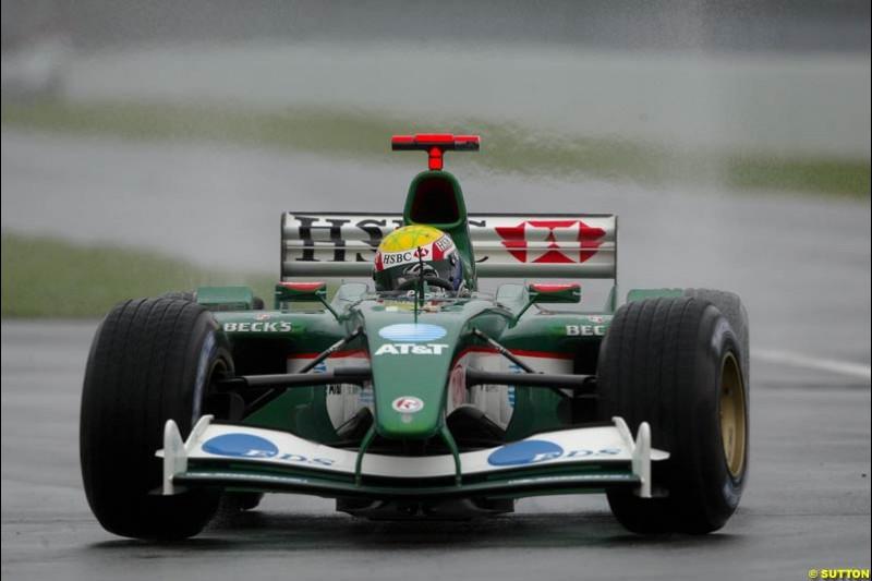 Mark Webber, Jaguar, during Saturday Free Practice. Canadian Grand Prix, Montreal, Saturday, June 14th 2003.