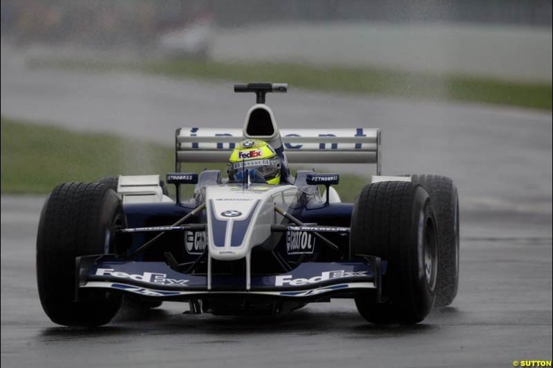 Ralf Schumacher, Williams, during Saturday Free Practice. Canadian Grand Prix, Montreal, Saturday, June 14th 2003.