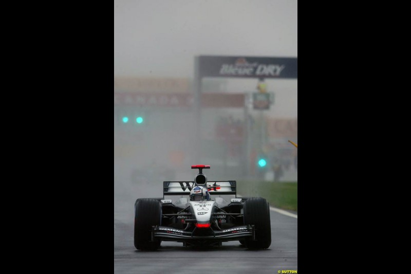 David Coulthard, McLaren, during Saturday Free Practice. Canadian Grand Prix, Montreal, Saturday, June 14th 2003.