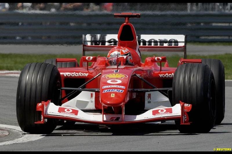 Michael Scumacher, Ferrari. Canadian Grand Prix, Montreal, Sunday, June 15th 2003.