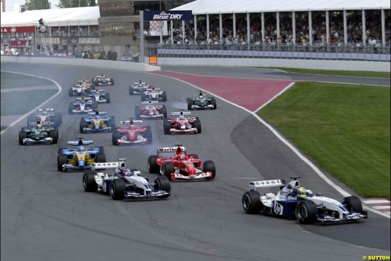 The start. Canadian Grand Prix, Montreal, Sunday, June 15th 2003.