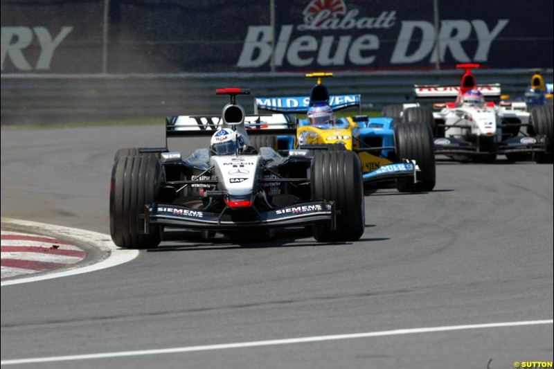 David Coulthard, McLaren. Canadian Grand Prix, Montreal, Sunday, June 15th 2003.
