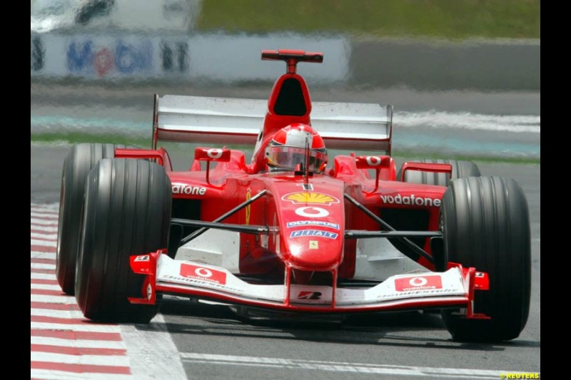 Michael Schumacher, Ferrari. French Grand Prix at Magny Cours. Circuit de Nevers, France. Sunday, July 6th 2003.