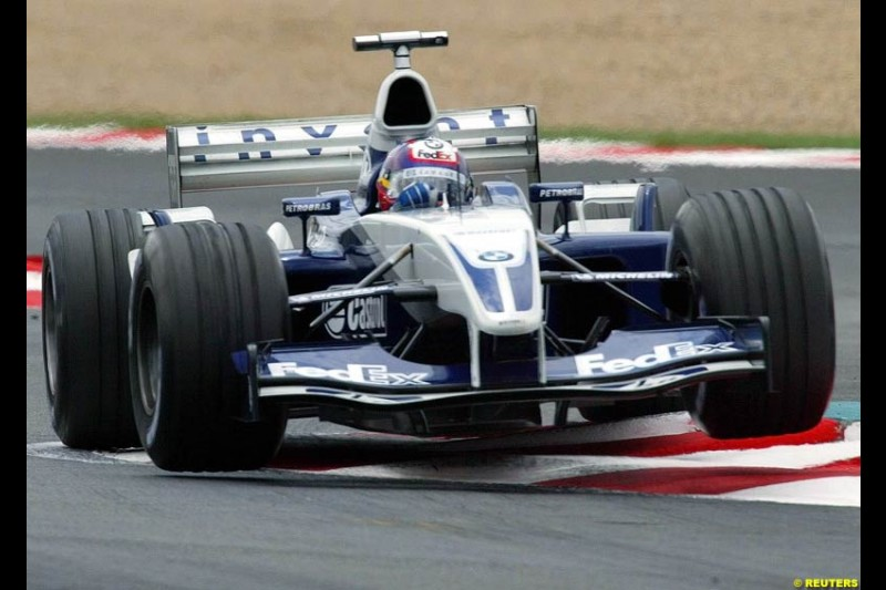 Juan Pablo Montoya, Williams. French Grand Prix at Magny Cours. Circuit de Nevers, France. Sunday, July 6th 2003.