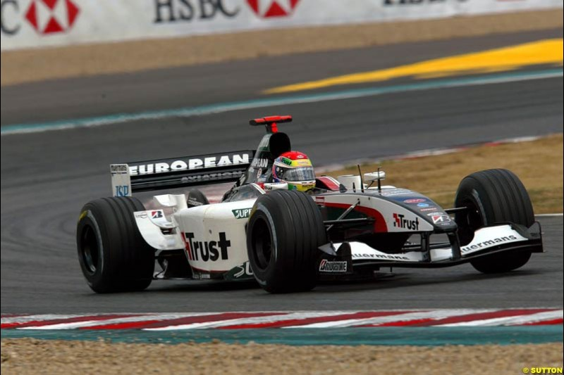 Justin Wilson, Minardi. French Grand Prix at Magny Cours. Circuit de Nevers, France. Sunday, July 6th 2003.