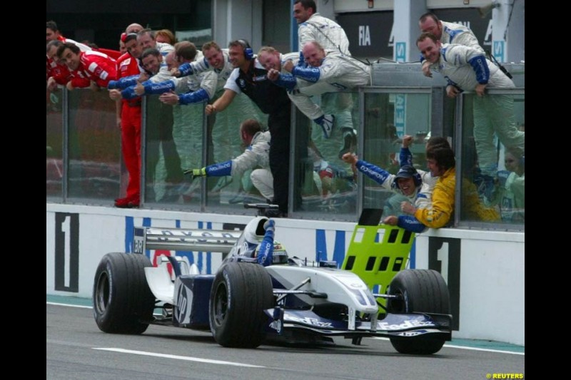 Ralf Schumacher wins the French Grand Prix at Magny Cours. Circuit de Nevers, France. Sunday, July 6th 2003.