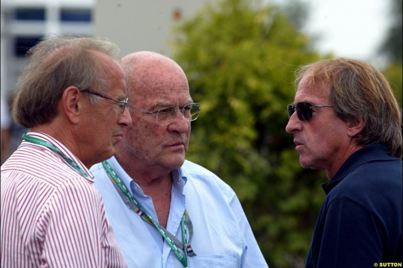 Guy Ligier visiting the Paddock. French Grand Prix at Magny Cours, France. Sunday, July 6th 2003.
