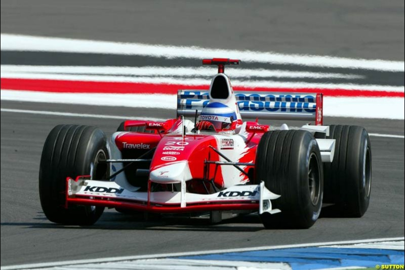 Olivier Panis, Toyota. German Grand Prix at Hockenheim. Friday, August 1st 2003.