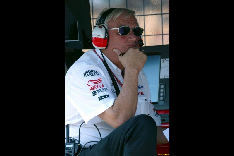 Ove Andersson, Toyota. German Grand Prix at Hockenheim. Friday, August 1st 2003.