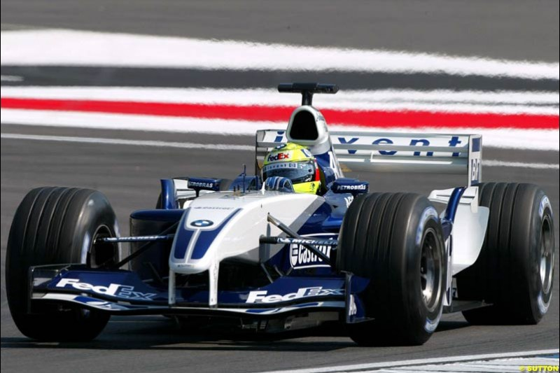 Ralf Schumacher, Williams. German Grand Prix at Hockenheim. Friday, August 1st 2003.
