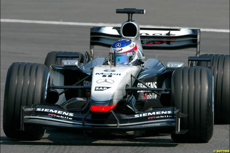 Kimi Raikkonen, McLaren. German Grand Prix at Hockenheim. Friday, August 1st 2003.