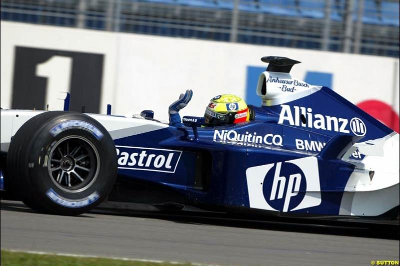 Ralf Schumacher, Williams. German Grand Prix, Hockenheim, Germany. Saturday, August 2nd 2003.