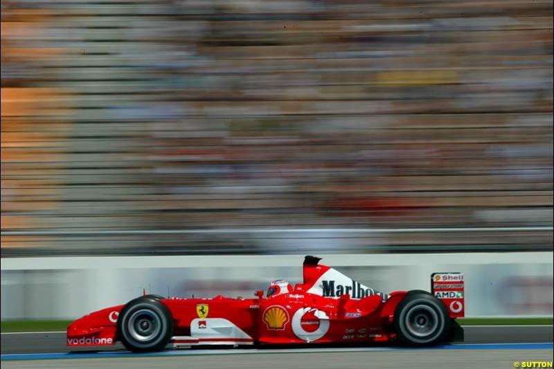 Ferrari. German Grand Prix, Hockenheim, Germany. Saturday, August 2nd 2003.