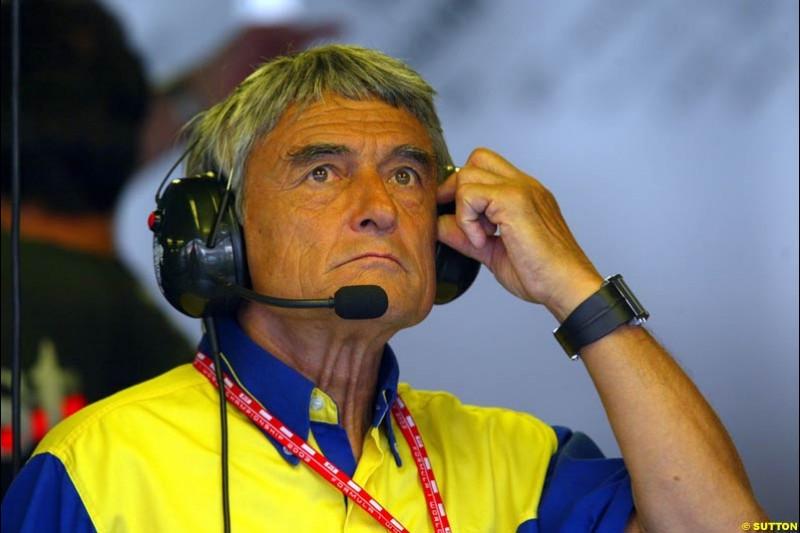 Pierre Dupasquier, Michelin. German Grand Prix, Hockenheim, Germany. Saturday, August 2nd 2003.